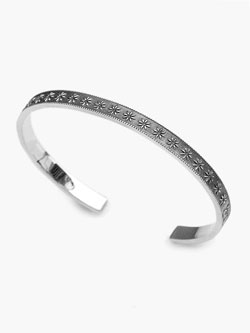 Native Flower Bangle (Silver) [No.13005]