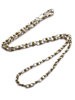 wrapped link chain necklace combi