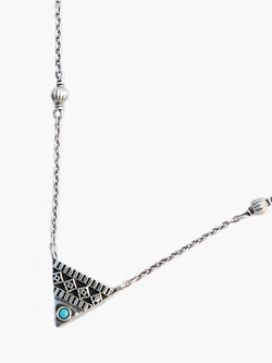 EMBROIDERED TRIANGLE LARGE NECKLACE [NO.13079]