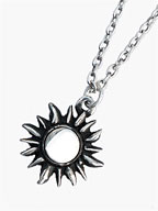 Sun Necklace (Silver) [No.11109]