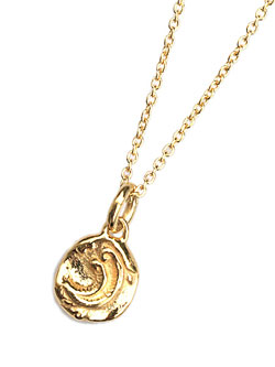 Ancient Moon Pendant (Gold Plated)