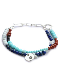 Colorfield Beads Anklet (ラピス&ターコイズミックス)