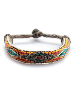 "BRACELET 1/2"" Hitched horsehair (ブラウン)"