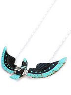 BEN LIVINGSTON / Jet × Turquoise Navajo Eagle Necklace