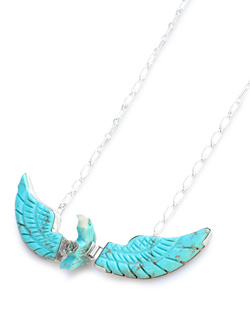 BEN LIVINGSTON / Shell × Turquoise Navajo Eagle Necklace