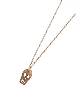 10K Tiny Skull Necklace