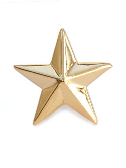 FLAT STAR EARRINGS  (ゴールド)