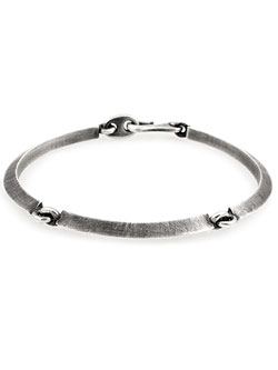 Triple Link Oxidized Tilted Axis Bracelet [B-103712-OXI] / トリプル リンク オクスダイズド ティルト アクシス ブレスレット