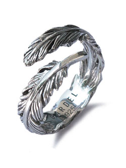 Natural Feather Ring [GDR-077]