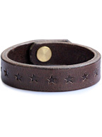 STAR STAMP LEATHER BRACE(DARK BROWN)