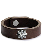 CONCHO LEATHER BRACE (DARK BROWN)