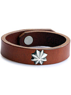 CONCHO LEATHER BRACE (BROWN)