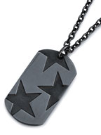 BIG THREE STAR PENDANT (BK)