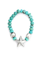 STAR BEADS RING (Turquoise)