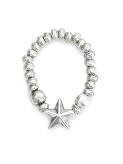 STAR BEADS RING (Silver)