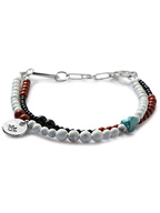 Colorfield Beads Anklet (マグネサイト&ターコイズミックス)