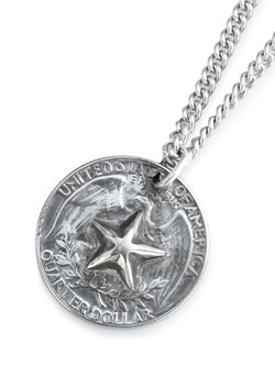 Bump Out Star 25c Necklace [HYJKS-106]