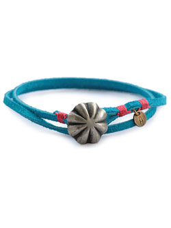 Concho Suede Bracelet Turquoise