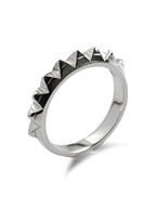 STUDS RING NINE (SILVER)