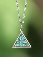 Turquoise Triangle Necklace [ED-15NS-NK14]
