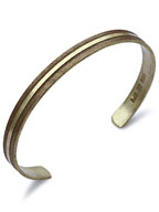 Brass Bangle Slim W-3