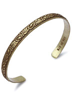 Brass Bangle Slim W-1