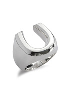 HORSESHOE PINKY RING (SILVER)