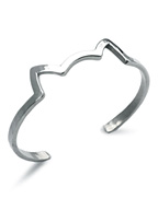 Little Idiots Kitty Cuff (Silver)