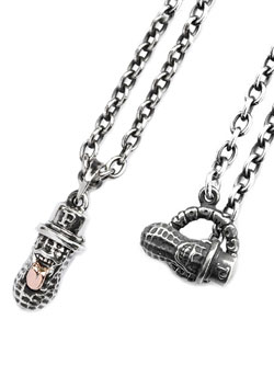 Medium Bero Peanuts Top (Silver × K10 Pink Gold) + Necklace