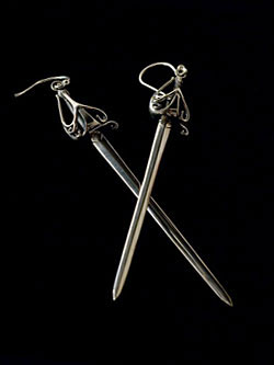 Sword Pierced Earrings
