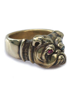 Bull Dog Ring (Brass)