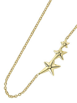 Mini Shooting Star Necklace (14k Gold)