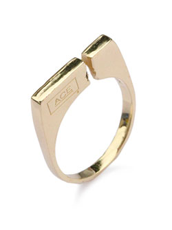 split ring 18k gold plated