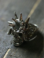 Vintage Spike Skull Ring / ヴィンテージスパイクスカル リング