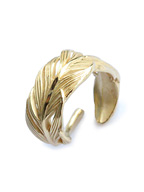 Small Owl Feather ring K18coating