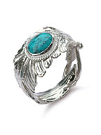 Turquoise Feather Ring [ED-TS16-R03]