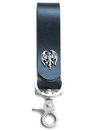 Hollywood Vampires Bat Leather Lanyard
