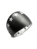 BIG SEVEN STAR RING (MATTE BLACK)