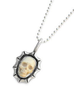 Tiny Skull Necklace - Mammoth Ivory