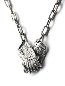 CLUTCHING WING NECKLACE