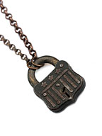 Vintage Lock Necklace (Star)