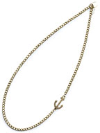 EMBEDDED ANCHOR NECKLACE (BRASS)