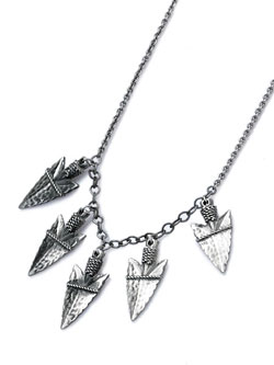 SPEARHEAD CLUSTER NECKLACE