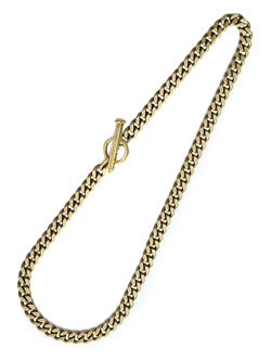 Spike Toggle Chain Necklace (Brass) / スパイク トグル チェーン ネックレス (ブラス)