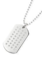 ID TAG DAY PENDANT (SILVER)