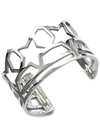 SKELETON FIVE STAR BANGLE (SILVER)