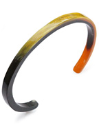 5mm Buffalo Horn Plain Bangle (D.Brown Mix)