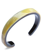 11mm Buffalo Horn Twisted Bangle (D.Brown Mix)