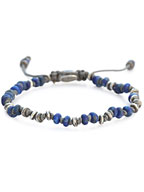 TEMPLAR JOINTED MINI GEMSTONE BRACELET WITH STERLING ACCENTS [B-103553-BLUE LAPIS]