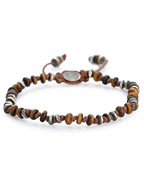 TEMPLAR JOINTED MINI GEMSTONE BRACELET WITH STERLING ACCENTS [B-103553-TIGER EYE]